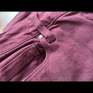 Burgundy Bullhead jeans